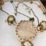 Beautiful crystal necklace with matching earrings