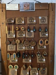Reclaimed wood earrings