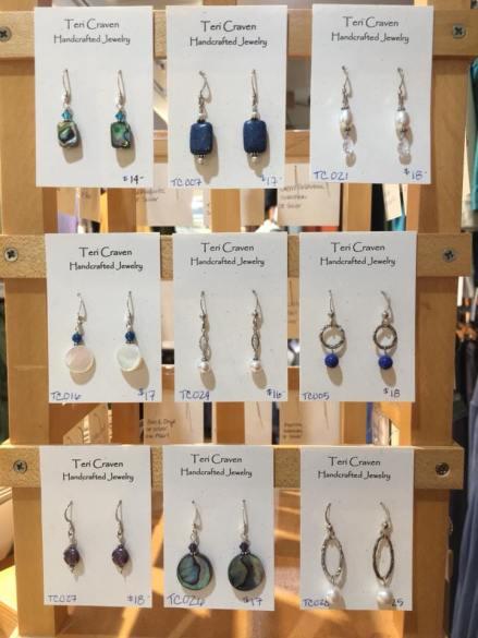 Teri Craven's earring designs